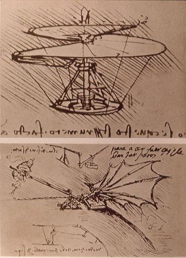 Leonardův nákres